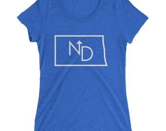 North Dakota Ladies' short sleeve t-shirt