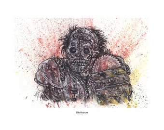 Turbo Kid Skeletron 8.5x11 Signed Art Print