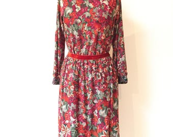 Vintage 70s Lanvin Dress with Leaf Print