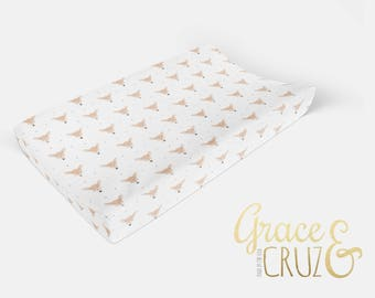 Bambi Bedding  - Choose from Boppy Cover + Changing Pad Cover + Crib Sheet + Rail Cover + Crib Skirt or Blanket