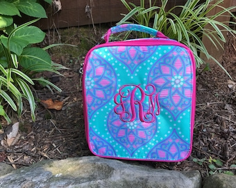 Marlee Lunch Bag ~ Monogrammed  Lunch Bag - Back to School - Stylish lunch box ~ Viv&Lou
