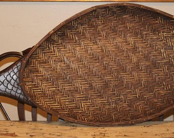 Large Wicker Sushi Platter Vintage Fish Display