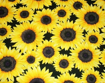Sunflower Fabric, Novelty Fabric, By The Yard, Autumn Fabric, Benartex Fabrics, Still Blooming Collection, Quilting Sewing Crafting Fabric