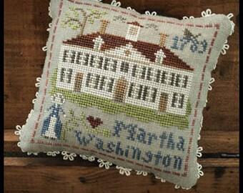 NEW Martha Washington Early Americans #3 cross stitch patterns by Little House Needleworks at thecottageneedle.com Historical USA liberty