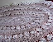 Sale Vintage Hand Crochet Tablecloth, bedspread