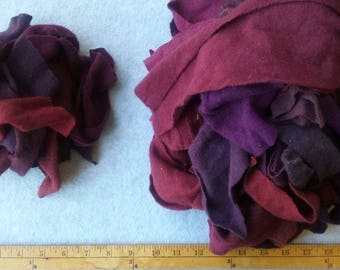 Cashmere Recycled Remnants - Dark red, Brick Red through Burgundy for DIY Crafts and Projects - 16 oz. Bundle Size