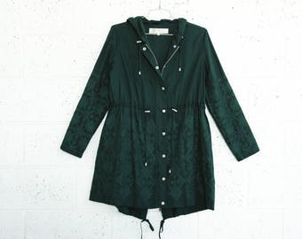 Summer Sale Embroidered winter coat ,Green.