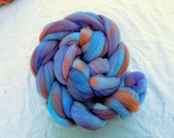 4 ounces of hand-dyed Cormo roving