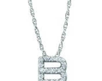 Petite Diamond Pendant - Diamond Letter Necklace - Gift for Mom - Diamond Initial Necklace