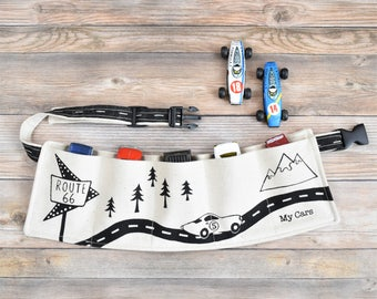 Toy Car Utility belt, Toy Storage Belt, Small Cars, boys belt, toddler belt, toy car storage, personalized belt, custom toy storage