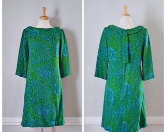 ON SALE Vintage 60s Leslie Fay Original Knit Sheath Dress