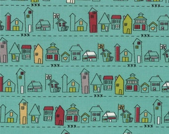 Road 15 Main Street in Rain, Sweetwater, Moda Fabrics, 100% Cotton Fabric, 5522 14