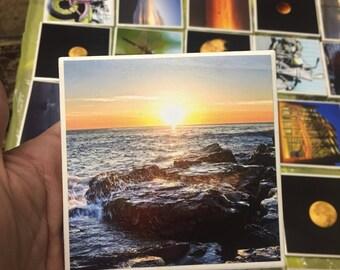 Beach coasters, beach, coaster set, photography, New Jersey, jersey shore