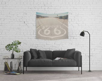 Route 66 photograph Route 66 tapestry California tapestry California photograph wanderlust tapestry boho wall art home decor