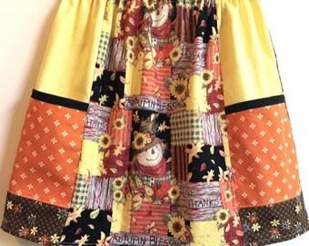 Scarecrow    big pocket  skirt   (2T, 3T, 4T, 5T, 6, 7, 8)