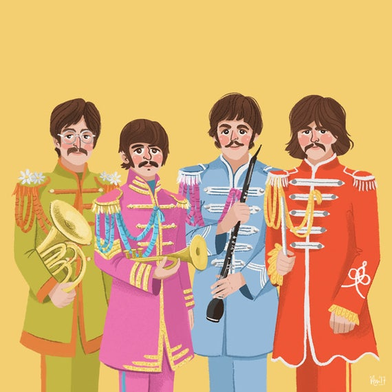 The Beatles - Sgt Peppers Lonely Hearts Club Band Print