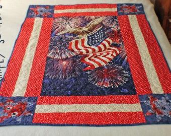 Patriotic Eagle Star Quilt Pattern