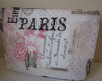 makeup bag/makeup pouch/zipper pouch/toiletry bag/paris