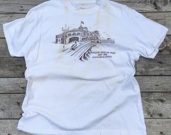 "MED-LRG | Trashed Souvenir Tee St. Petersburg, Fl ""Million Dollar Pier"""