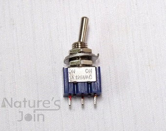 5pcs SPDT 3-Pin On-Off-On 6A 125VAC Mini Toggle Switch, DIY Electrical Parts, PT007