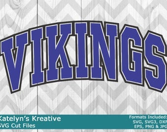 Vikings Arched SVG Files