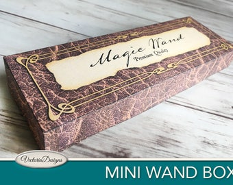 Mini Wand Box Wizard School printable Favor Box Halloween party wizard party paper crafting digital download digital sheet - VDBXHA1692