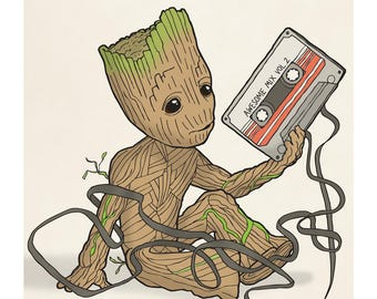 Baby Groot - Guardians of the Galaxy - Illustration Art Print