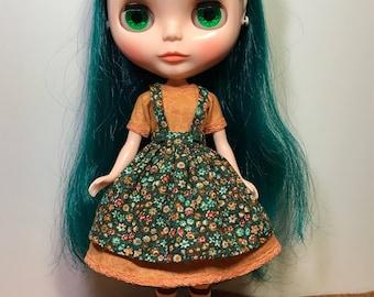 Rosiee Gelutie Dress and Pinafore Set