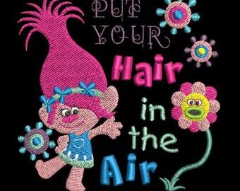 Princess Poppy Trolls Machine Embroidery Design - 4x4