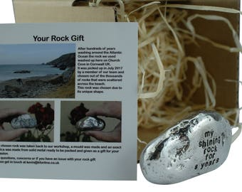 My Shining Rock For 8 Year - Solid Heavy Metal eighth Anniversary Gift Idea