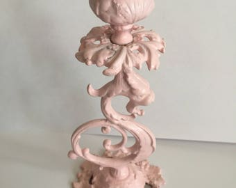 Shabby pink, vintage iron candle holder, shabby cottage, shabby pink chic, pink kitchens, pink cottage