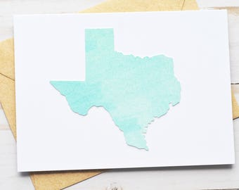 Texas Note Cards // Watercolor // Blank Cards // Thank YOu Cards // State Cards // United States //Just Because // Thinking of You