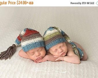 newborn ,knit, twin hats, baby, hat, newborn outfit, photo prop, photography prop, boy, baby shower gift, coming home outfit,