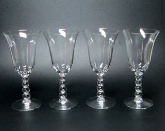 Imperial Candlewick set of four glasses - water goblet