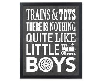 Trains toys print, Playroom wall art, children print, kids decor, mini learners, nursery printable, little boys art, kids print, nursery art
