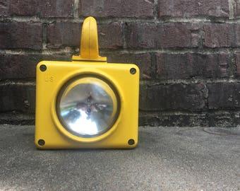 Yellow Boat Light / Waterproof / Cold War Era / Industrial