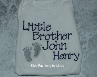 Little Brother  Bodysuit With Baby Feet