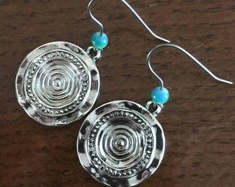 Water goddess drop earrings