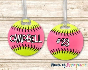 Softball Personalized Bag/Luggage Tag