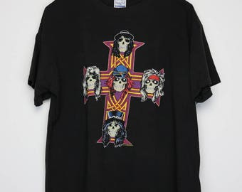 Guns N Roses Shirt Vintage tshirt 1987 Appetite For Destruction 1980s Izzy Stradlin Steven Adler Axl Rose Slash Rock Band Heavy Metal GNR