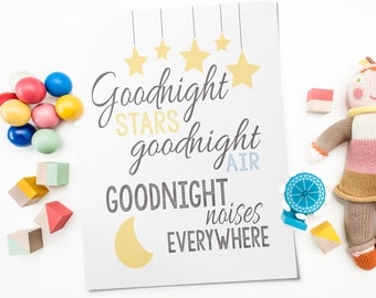 Baby Moon Decor - Nursery Moon And Stars - Nursery Moon Decor - Moon And Stars Nursery Art - Moon And Stars Nursery Decor - Goodnight Moon