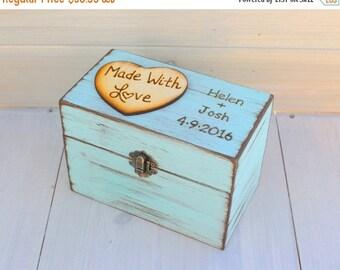 SALE Rustic Recipe Boxes - Recipe Storage - Wood Recipe Box - Farmhouse Style Chic - Recipes Organizer - Fixer Upper Style - Rustic Home Dec