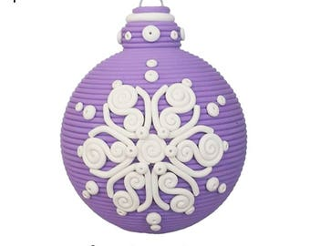 Snowflake polymer clay Christmas ornament