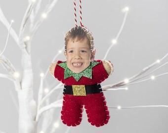 Elf Christmas Tree Decorations - Elf Christmas Ornament - Personalised Elf Christmas Decoration - Funny Christmas Gift - Elf