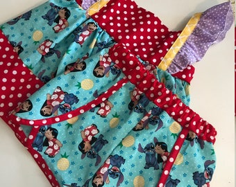 Girls Toddler Lilo and Stitch Flutter tunic and Short Set 24 2T 3T 4T 5T 6 6x