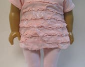 Pink Knit Top with Leggings Outfit for Your 18 Inch Doll