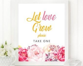 Printable PDF Sign - Passion Pinks