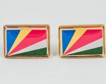 Seychelles Flag Cufflinks