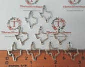 20 pieces per pack 21x14mm Small cut out Texas State Cut out in color to choose Lead Free Pewter