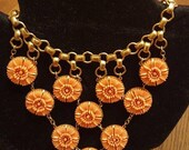ON SALE Vintage Victorian Revival Flower Filigree Statement Bib Necklace ** Antique Art Deco 1920's 1930's Collectible High End Art Deco Jew